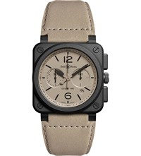 Bell And Ross Aviation Br 03 94 Chronographe Desert Type Watch Beige