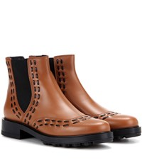 Tod's Leather Chelsea Boots Brown