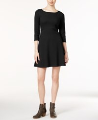 Maison Jules Long Sleeve Pocket Dress Only At Macy's Deep Black