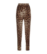 Dolce And Gabbana Leopard Print Pyjama Trousers Female Brown