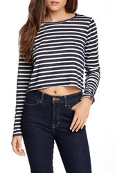 Olive And Oak Long Sleeve Cropped Tee Multi