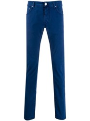 Jacob Cohen Skinny Fit Trousers Blue