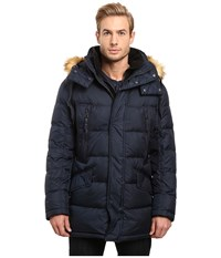 Marc New York Hancock Down Parka W Removable Hood And Fleece Bib Ink Men's Coat Navy