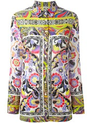 Etro Floral Paisley Border Blouse Women Cotton 40 White