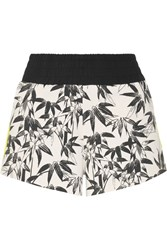 The Upside Bamboo Cruise Printed Stretch Jersey Shorts Black