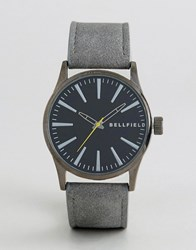 Bellfield Watch With Black Dial And Grey Strap