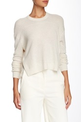 Proenza Schouler Cropped Crew Neck Sweater White