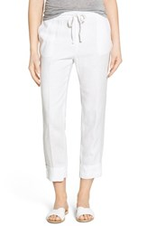 Women's James Perse Crop Linen Drawstring Pants