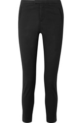 Atm Anthony Thomas Melillo Stretch Cotton Twill Tapered Pants Black