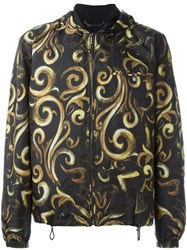 Versace 'Baroque' Hooded Jacket Black