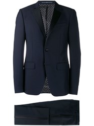 Givenchy Contrasting Panel Two Piece Suit Blue