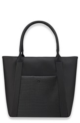 Vessel Signature 2.0 Large Faux Leather Tote Bag Black Pebbled Croc Black