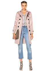 Burberry London Slim Trench Coat In Pink