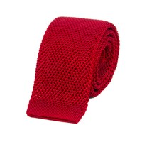 40 Colori Ruby Red Solid Silk Knitted Tie