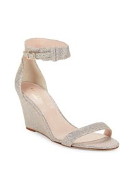 Kate Spade Ronia Glitter Textile Wedges Silver