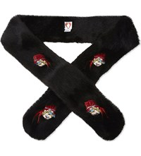 Shrimps Paula Faux Fur Scarf Black