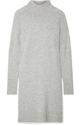 J.Crew Lowell Knitted Turtleneck Dress Gray