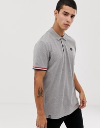 Jack And Jones Originals Polo Shirt With Tipping In Grey