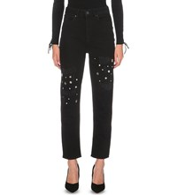 Sandro Maceoplex Tapered High Rise Jeans Noir