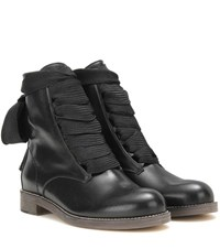 Chloe Harper Leather Ankle Boots Black