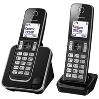Panasonic Kx Tgd312ed Digital Cordless Phone With Nuisance Call Control Twin Dect