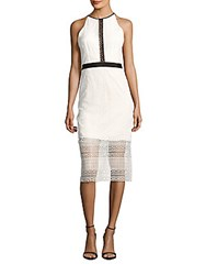 Cynthia Rowley Geo Fitted Lace Dress White