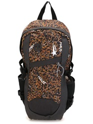 Golden Goose Deluxe Brand Leopard Print Backpack Black