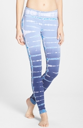 Hard Tail Mineral Wash Ankle Leggings Black Blue Lizard