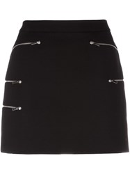 Barbara Bui Multi Zip Mini Skirt Black