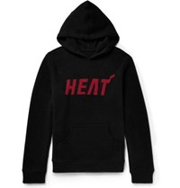 The Elder Statesman Nba Heat Intarsia Cashmere Hoodie Black