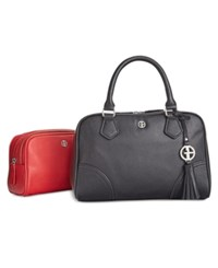 Giani Bernini 2 In 1 Pebble Leather Satchel Only At Macy's Black