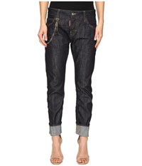 Dsquared Skin Hibird Pants Five Pockets Blue Women's Casual Pants