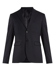 Acne Studios Kiruna Single Breasted Pique Blazer Navy