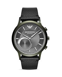 Armani Connected Olive Tone Hybrid Smartwatch 43Mm Gray Black