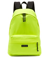 Balenciaga Fluorescent Backpack Yellow