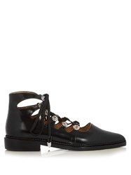 Toga Lace Up Leather Ankle Boots