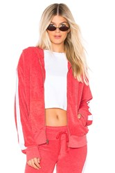 Wildfox Couture Sport Carta Zip Hoodie Red
