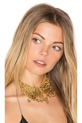 Fallon Prodigiam Medallion Choker Metallic Gold