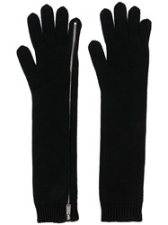 Dsquared2 Zipped Knit Gloves Black