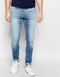 Pull And Bear Pullandbear Super Skinny Fit Jeans In Mid Wash Blue Blue