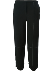 Edun Cropped Seam Print Trousers Black