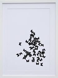 K Studio Black Butterflies Wall Art