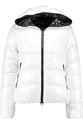 Duvetica Thia Quilted Shell Down Hooded Coat White