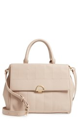 Sole Society Tracy Quilted Faux Leather Satchel Beige Taupe