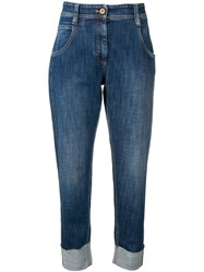 Brunello Cucinelli Tapered Cropped Jeans Blue