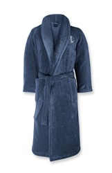 Ralph Lauren Home Langdon Peacock Robe Large Blue