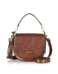 The Bridge Handbags Salinger Woven Leather Medium Shoulder Bag