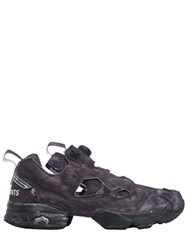 Vetements Reebok Tech And Leather Pump Sneakers