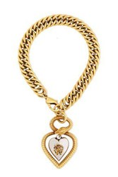 Roberto Cavalli Woman St. Valentine Burnished Gold And Silver Tone Bracelet Gold