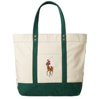 Polo Ralph Lauren Embroidered Tote Bag Neutrals